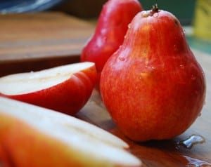 For a little color, consider a red Bartlett pear. Photo by Martha Lee Phelps