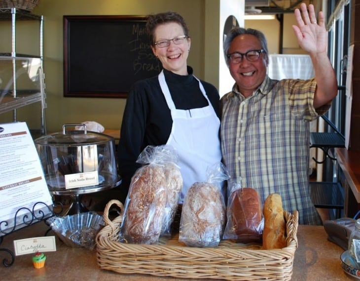 Garrett and Michelle at the bakery