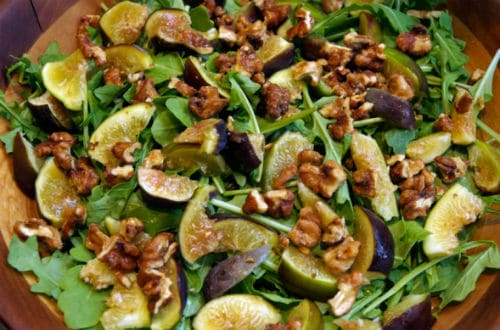This recipe for Roasted Fig and Arugula Salad combines fruity ...