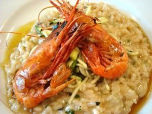 Lummi Island Spot Prawn and Oregano Risotto