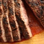 Cedar-Grilled Flat Iron Steak with Coffee Rub