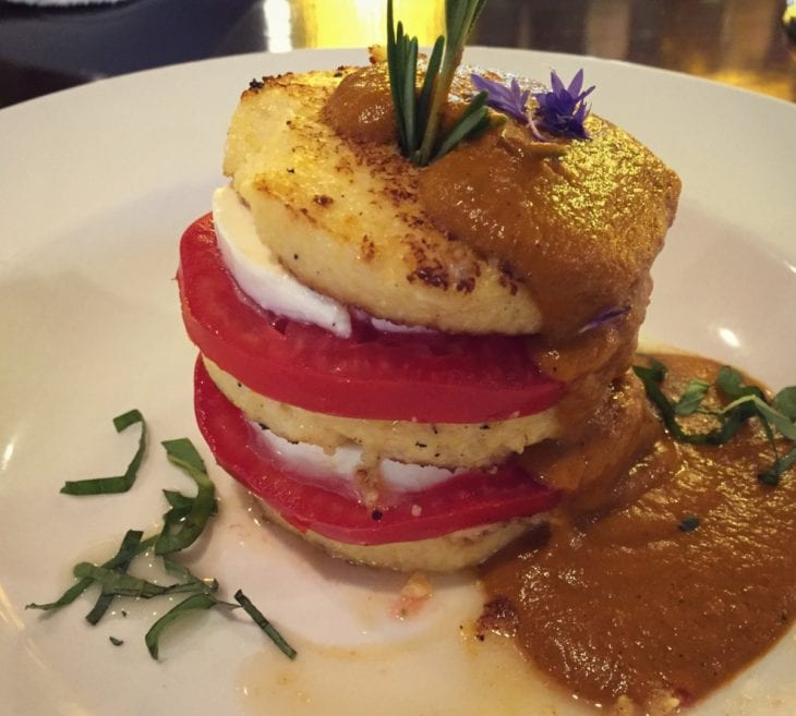 Larks Home Kitchen Cuisine Polenta Mozzarell Tomatoes