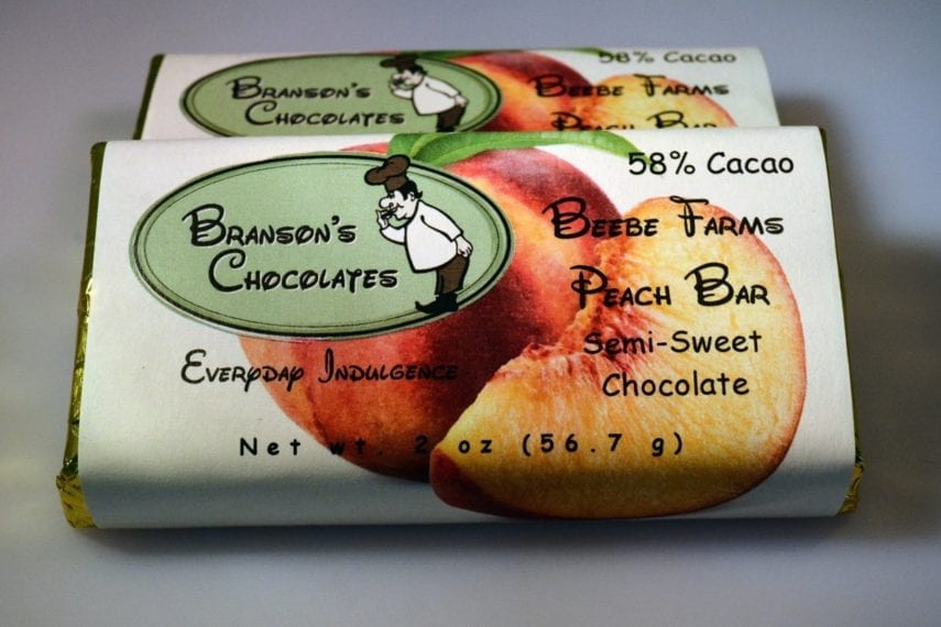 Branson's Chocolates Peach Chocolate Bar