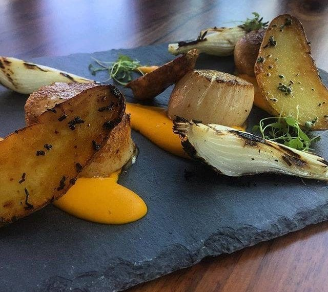 Alchemy Restaurant - Seared Scallops with Carrot Ginger Puree