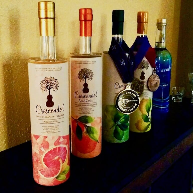 bottles of limoncello crescendo spirits