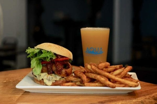 Aqua Burger Fries Beer 1 600x399