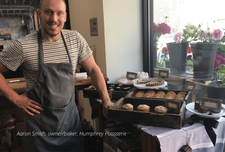 Aaron Smith, owner of Humphrey Patisserie