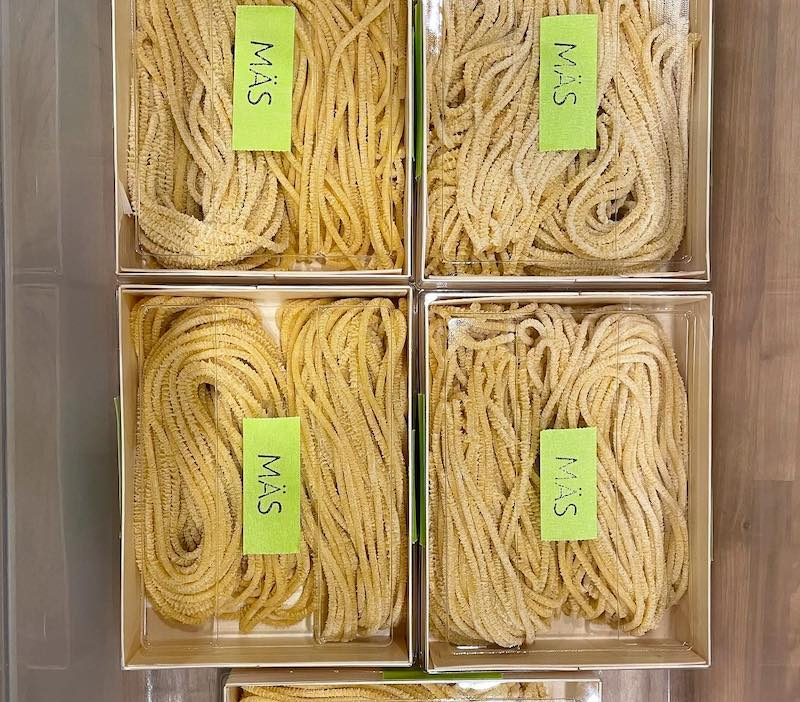 photo of pasta in cellophane package