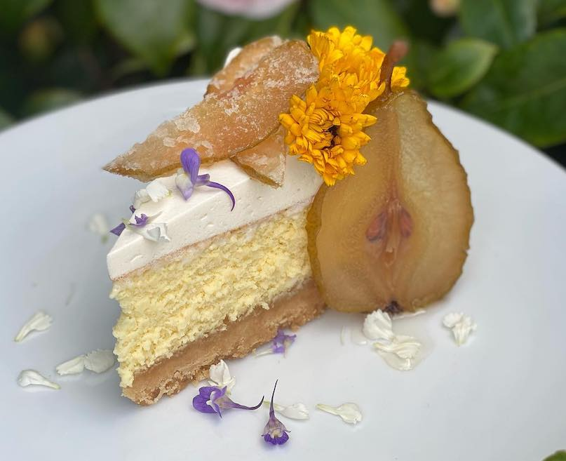 image of cheesecake on white plate