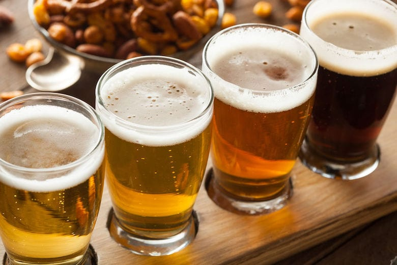 photo of glasses of craft beer