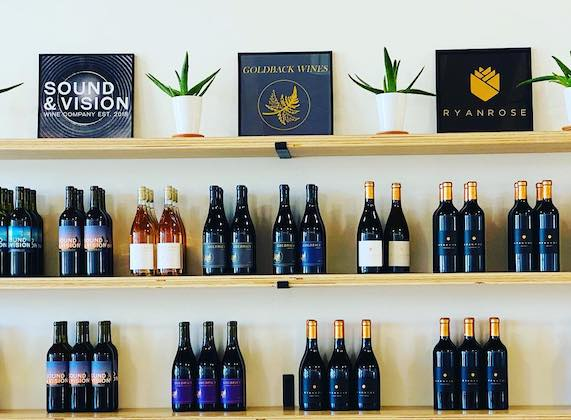 catalyst wine collective wall display
