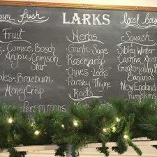 Seasonal sourcing at Larks Restaurant. Image credit: Barb Magee