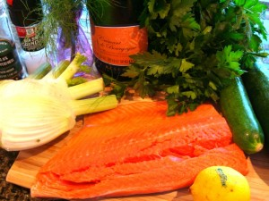 Champagne and Fennel Salmon
