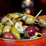 Citrus and Herb-Marinated Olives