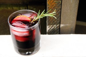 Rosemary and Beet Vodka Cocktail